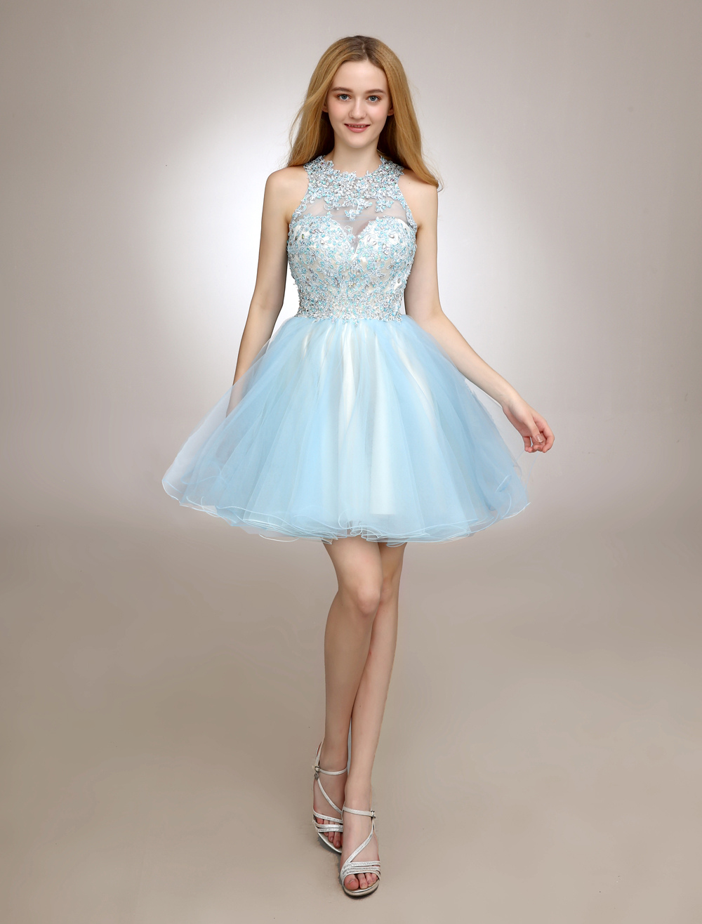 Short Homecoming Dress With Lace