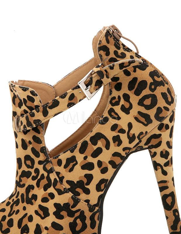 Col 5pwtq Tagliare Le Tacco Scarpe Alte Leopardo Con Stampa SOYRqxwqP