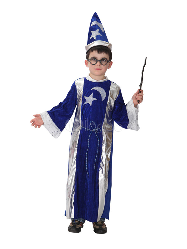 costume halloween sorcier bleu pour gar on. Black Bedroom Furniture Sets. Home Design Ideas