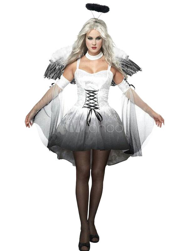 Costume Halloween d\u0027ange blanc pour femme,No.1