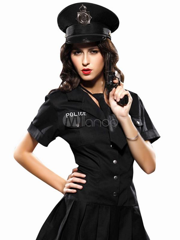 b6325ee72 Fantasia de policial feminina Halloween - Milanoo.com