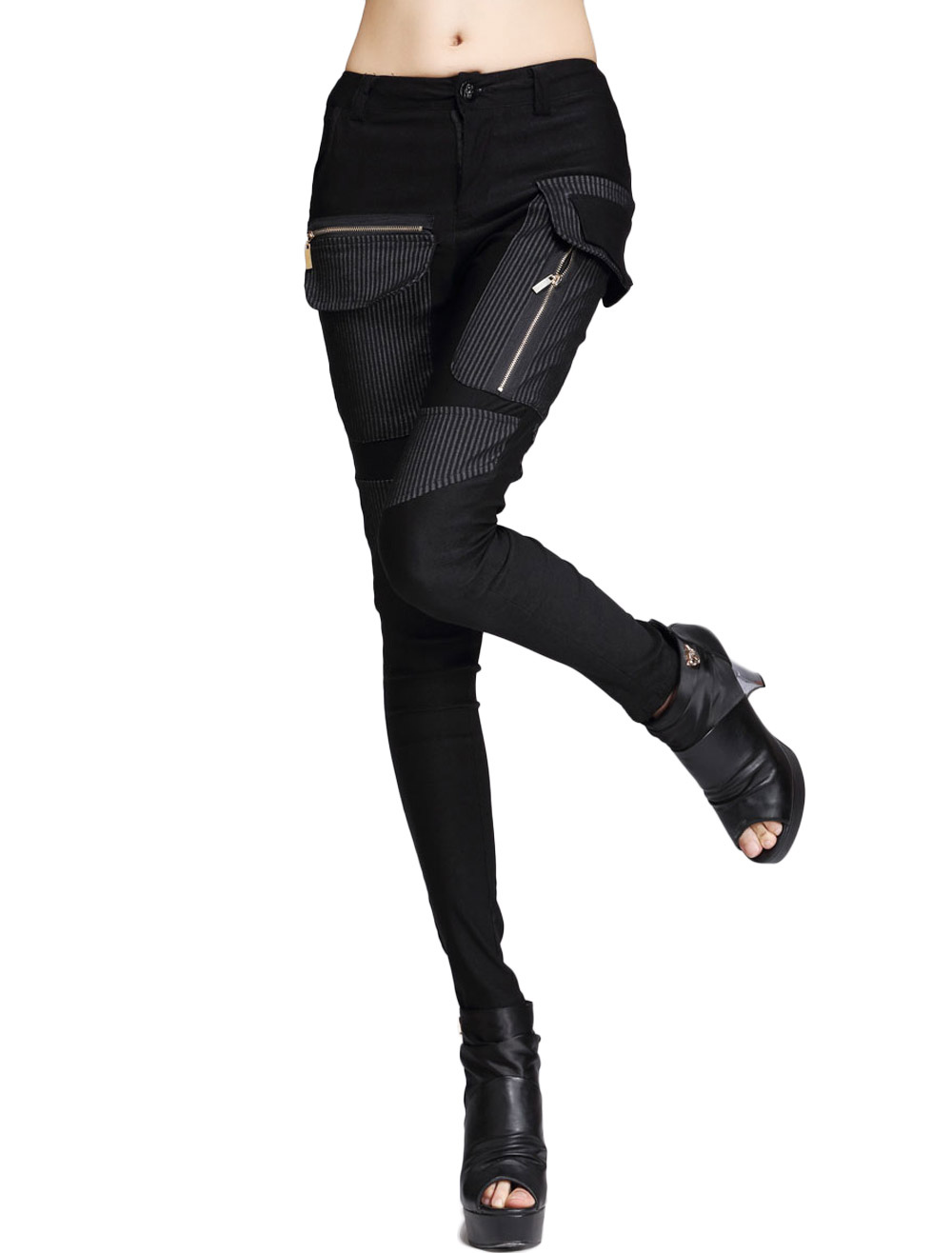 Patchwork Skinny Pants Cheap clothes, free shipping worldwide