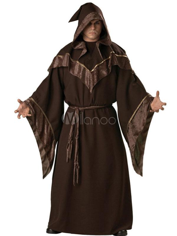 halloween men 39 s dark sorcerer robe costume halloween. Black Bedroom Furniture Sets. Home Design Ideas
