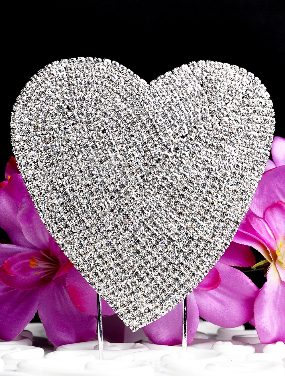 Buy Wedding Cake Toppers With Rhinestone Heart for $8.99 in Milanoo store