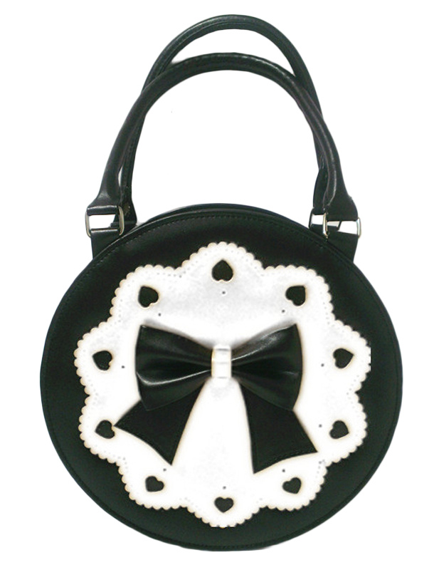 Round Lolita Bag with Bow Decor