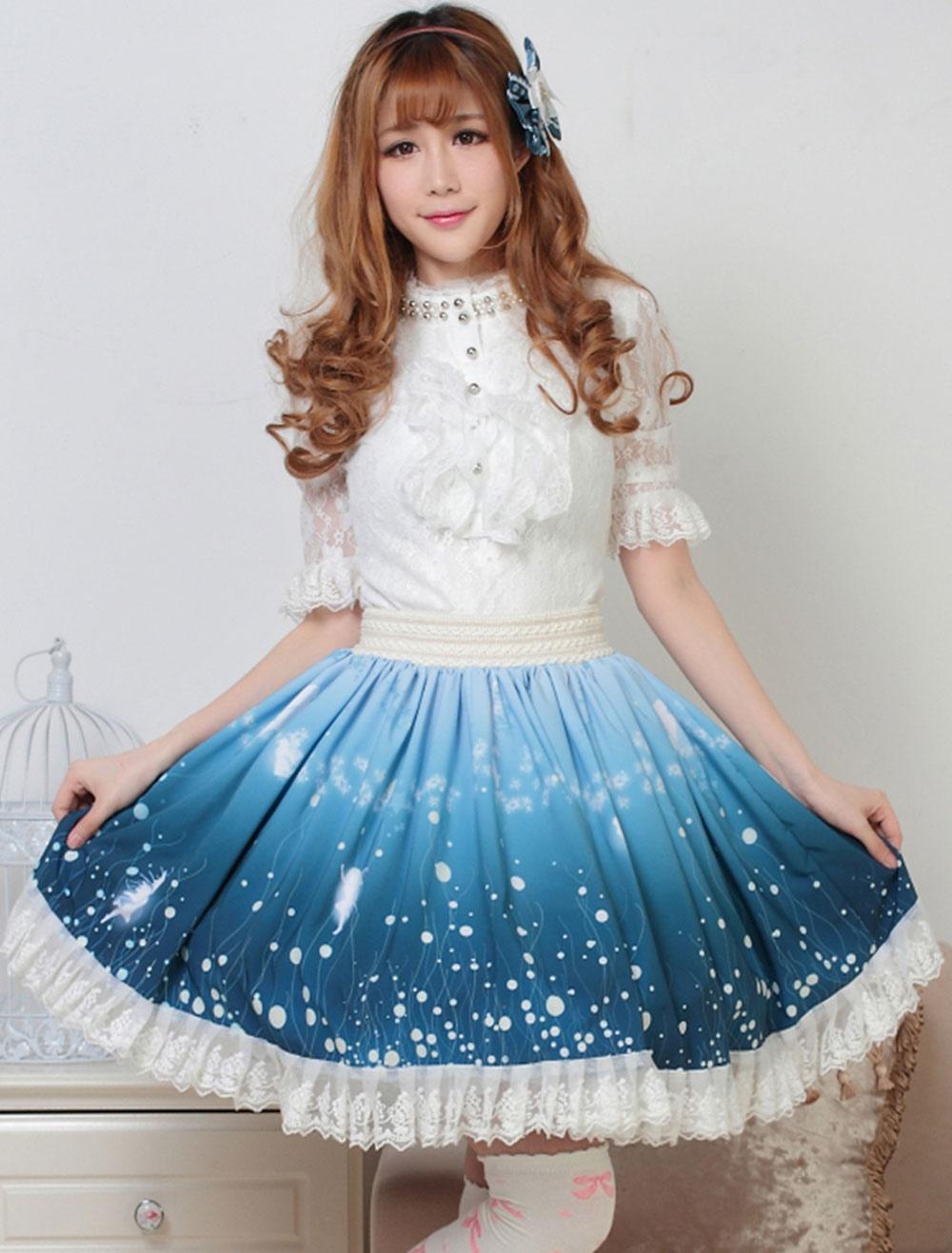 Sweet Lolita Skirt Wizard Of The Night Kawaii Lolita SK Lolita Skirt ...