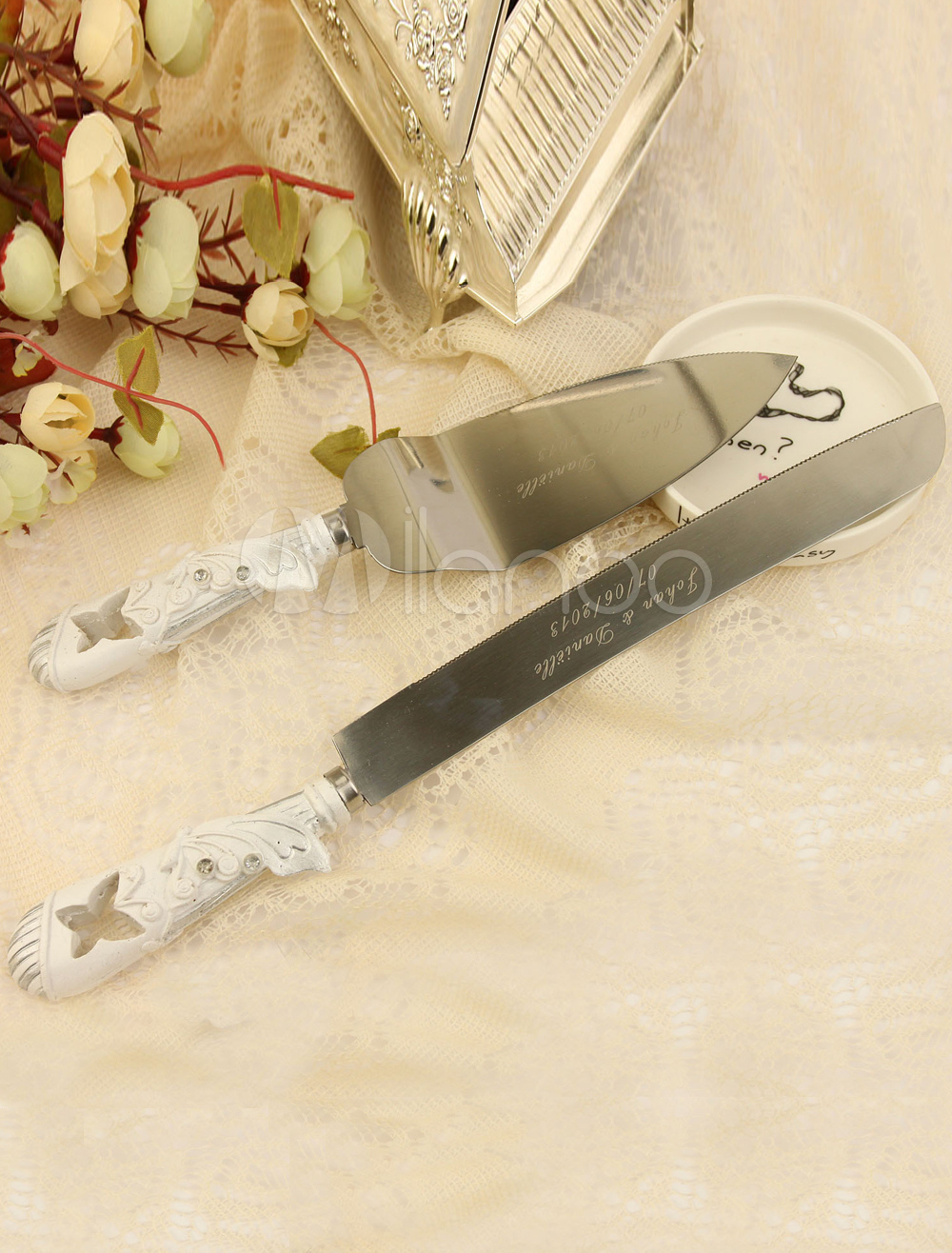 Personalized Wedding Cake Knife & Server Set