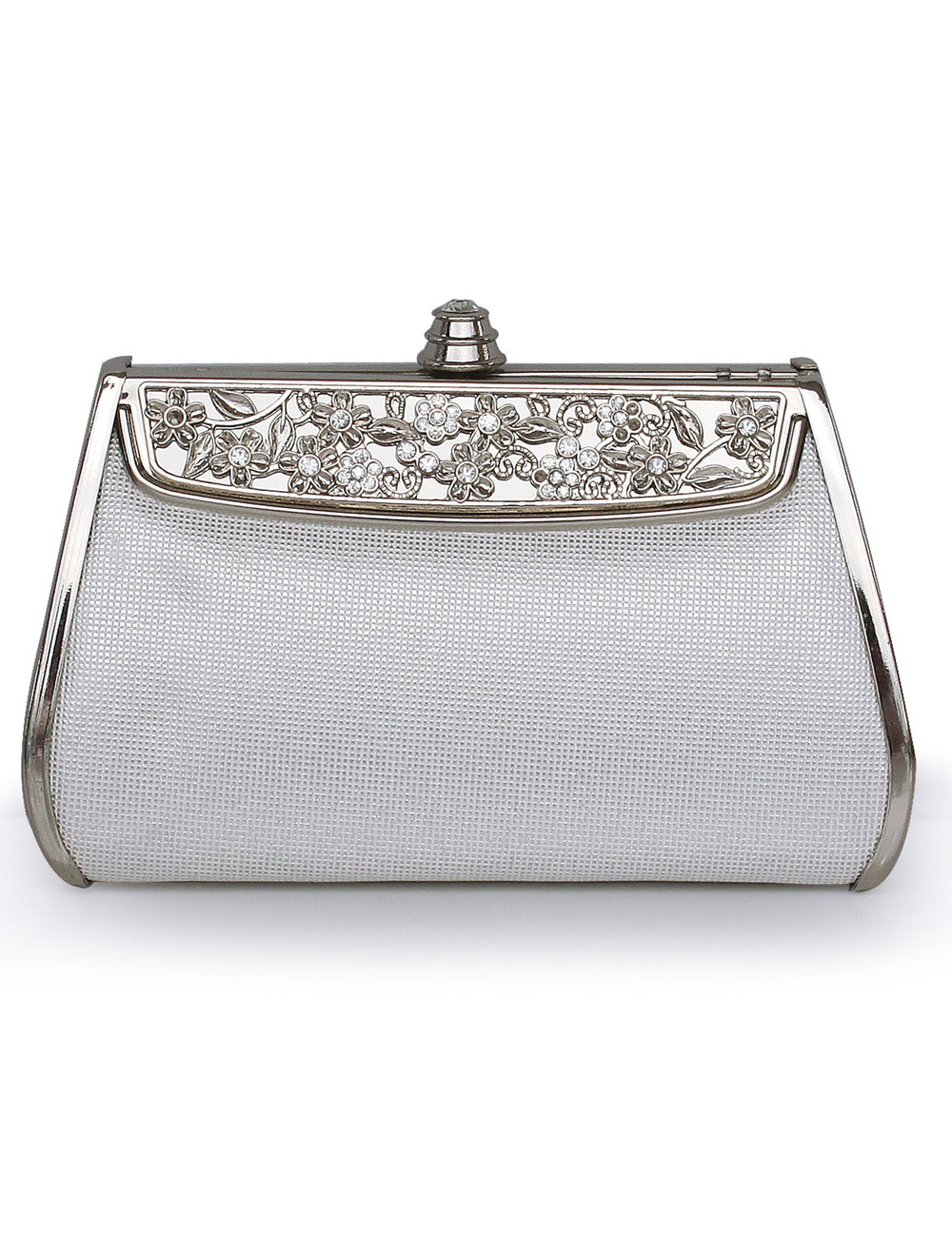 Vintage Silver Embossed Evening Bag