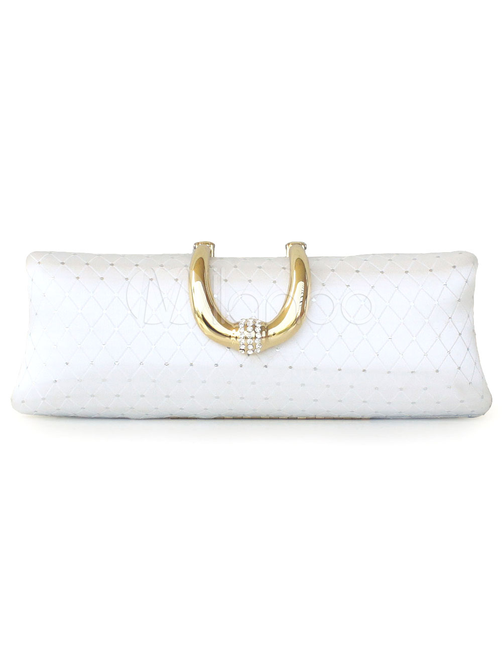 Long Metallic Quilted Evening Bag