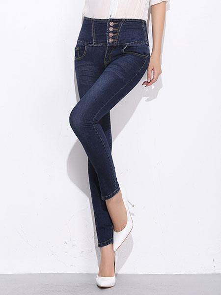 Vita Bottoni Con Jeans A Skinny Alta xABwH78q