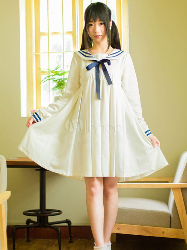 lolita sailor one peice dress long sleeve spring summer