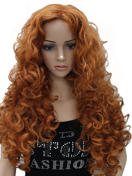 Buy Women's Long Wig Wave Wigs Light Tan Spiral Curls In Heat-resistant Fiber for $28.51 in Milanoo store