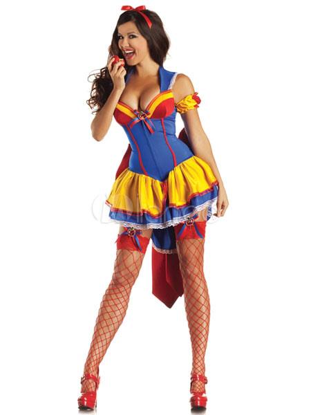 Sexy Halloween Snow White Costume Sexy Gathered Bust Dress  Halloween