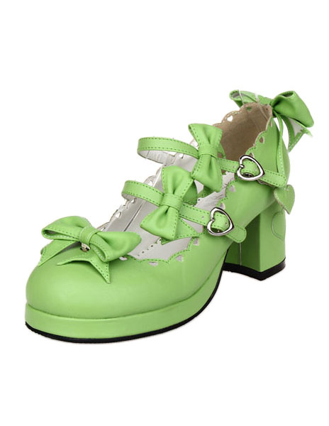 Bows decor lolita shoes for Decor 07834