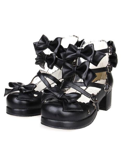 Milanoo / Bows Decor Buckled Lolita Shoes