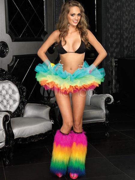 Colorful Halloween Costume Showgirl Polyester Crinoline  Halloween