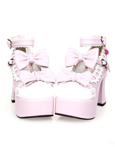 Platform Lolita High Heels with Bow Decor