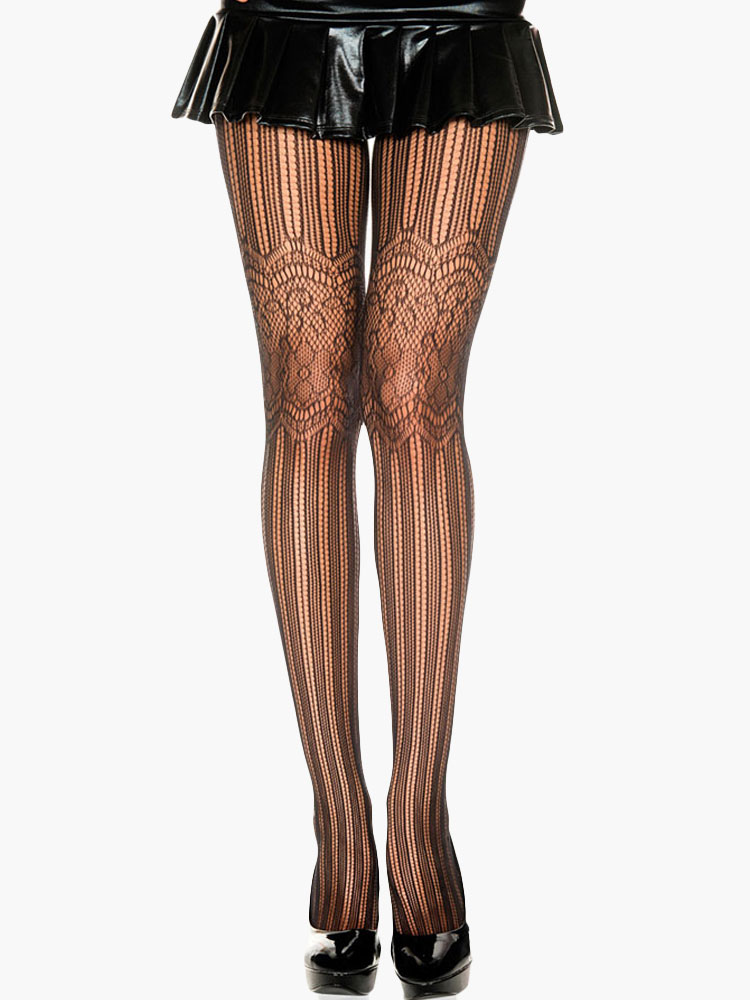 Buy Black Semi-Sheer Tights for $4.74 in Milanoo store