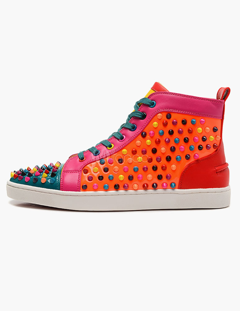 Color Block Studded Sneakers