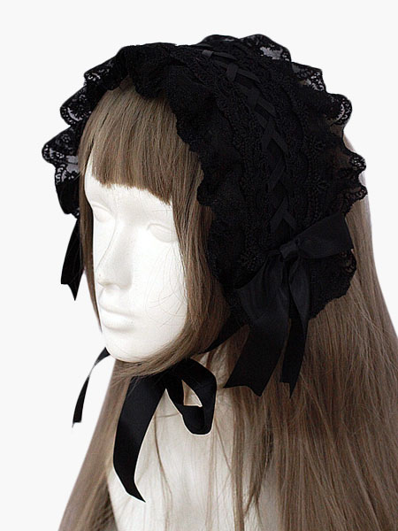 Buy Black Lace Gothic Lolita Headdress for $18.89 in Milanoo store