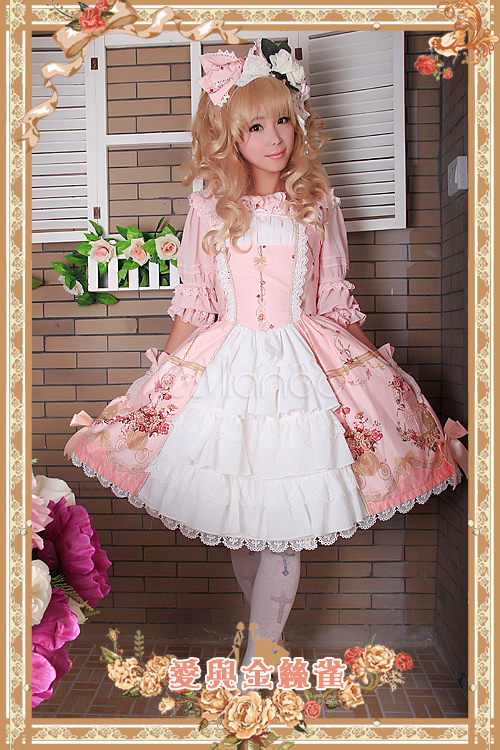 Lace Lolita Flared Skirt