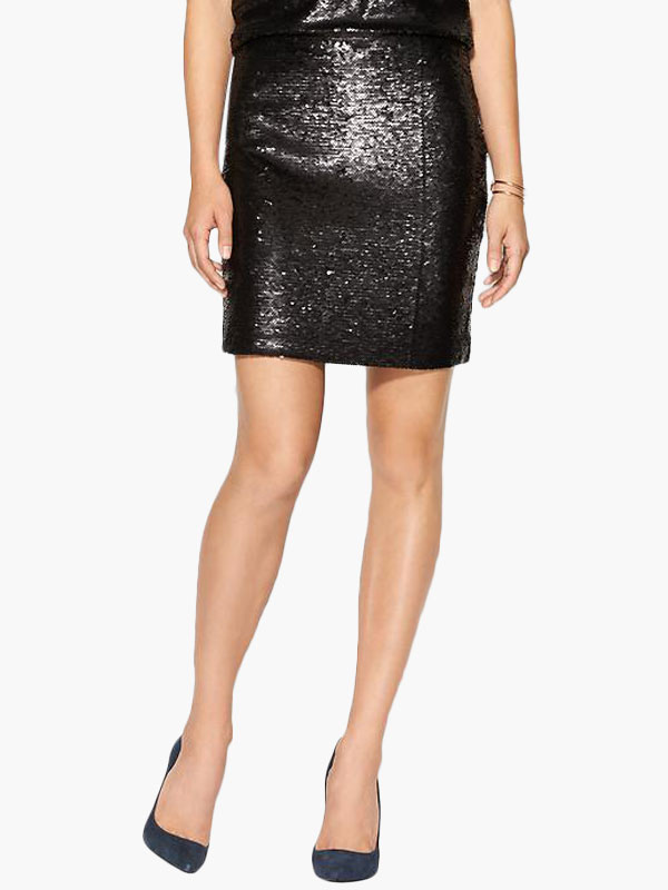 Black Sequined Mini Skirt Cheap clothes, free shipping worldwide