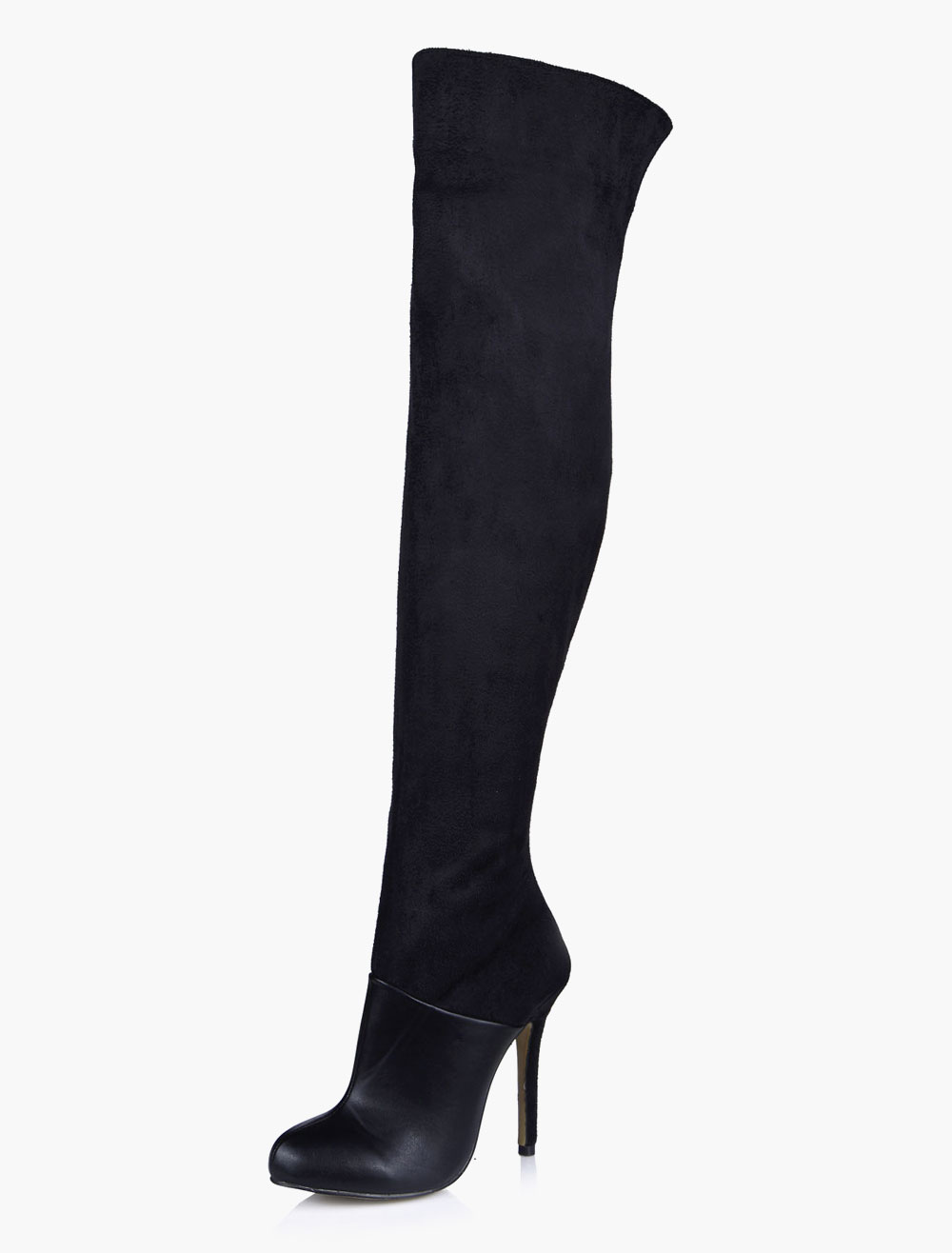 Thigh High Boots Black High Heel Over Knee Boots