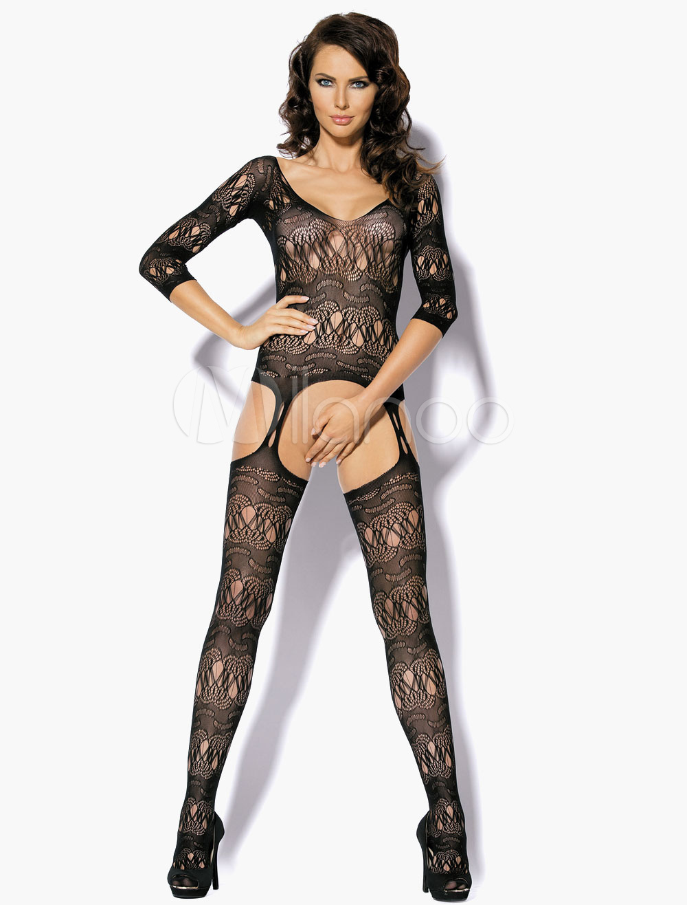 Buy Semi-Sheer Cut Out Hosiery for $8.54 in Milanoo store