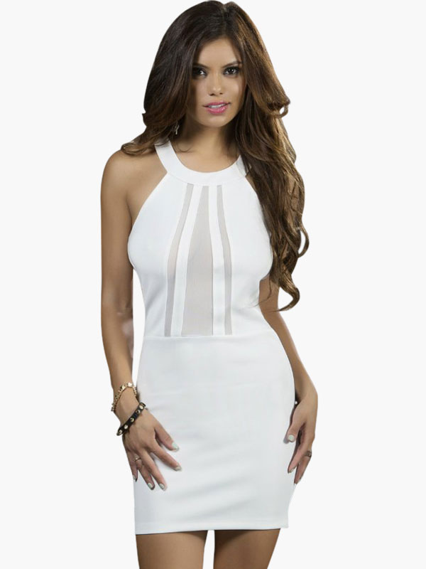 Black Club Dress Illusion Sexy Mini Dress For Women Cheap clothes, free shipping worldwide
