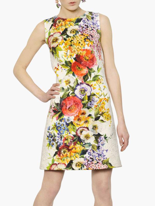 Robes droites fleuries