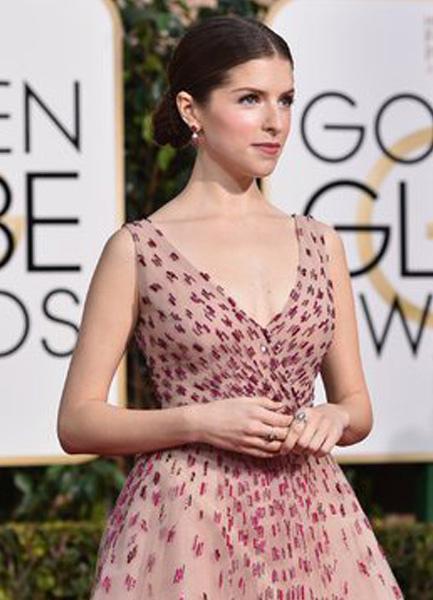 V-neck Tulle Flower Golden Globe Dress Inspired By Anna ...