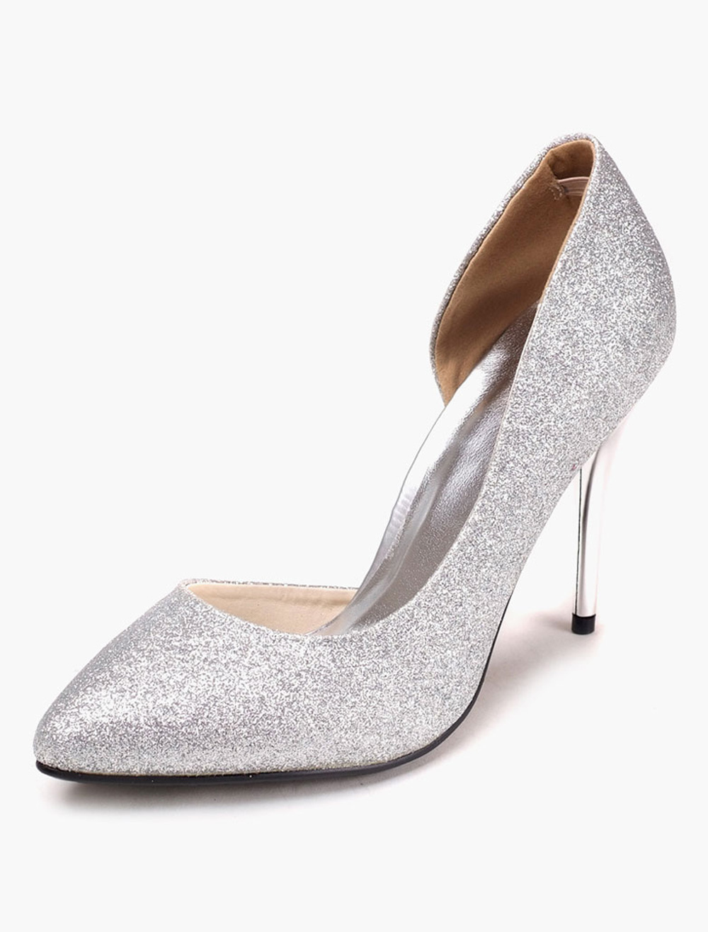 Buy Sequined Pointy Toe Stiletto Heel Pumps for $43.23 in Milanoo store