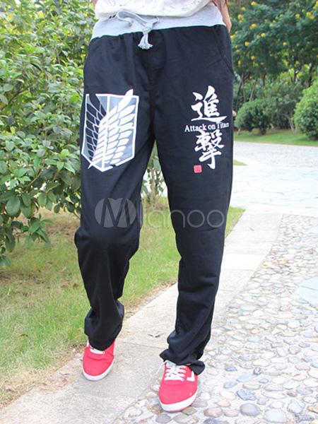 Buy Attack on Titan Shingeki no Kyojin Anime Pants Halloween for $21.99 in Milanoo store