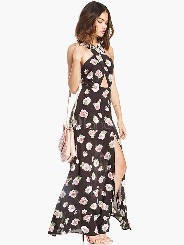 Vestidos largos estampados de flores