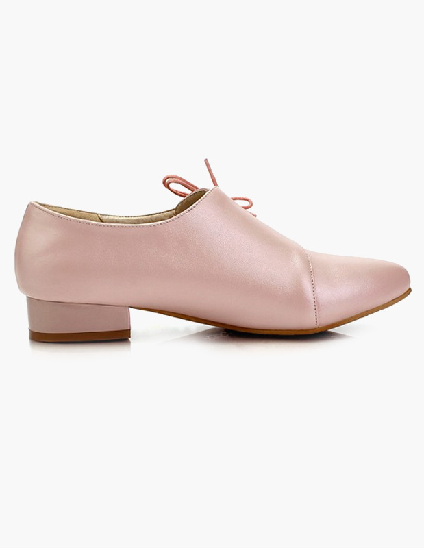 ... Chaussures plates en PU à bout pointu avec lacet oblique -No.7 ...