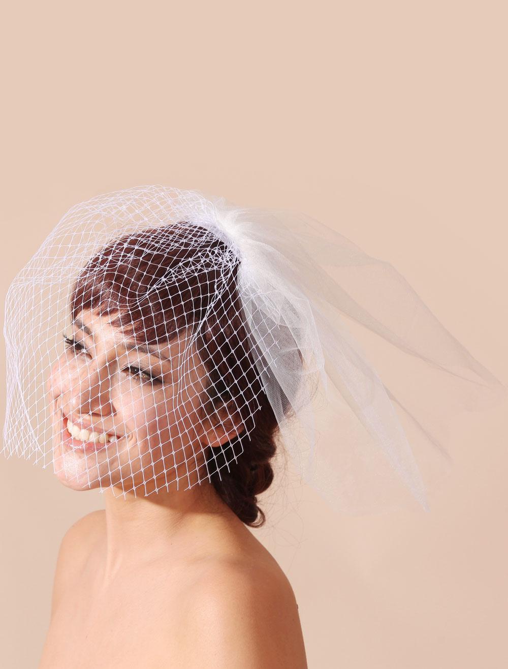 Tulle Wedding Blusher Veil