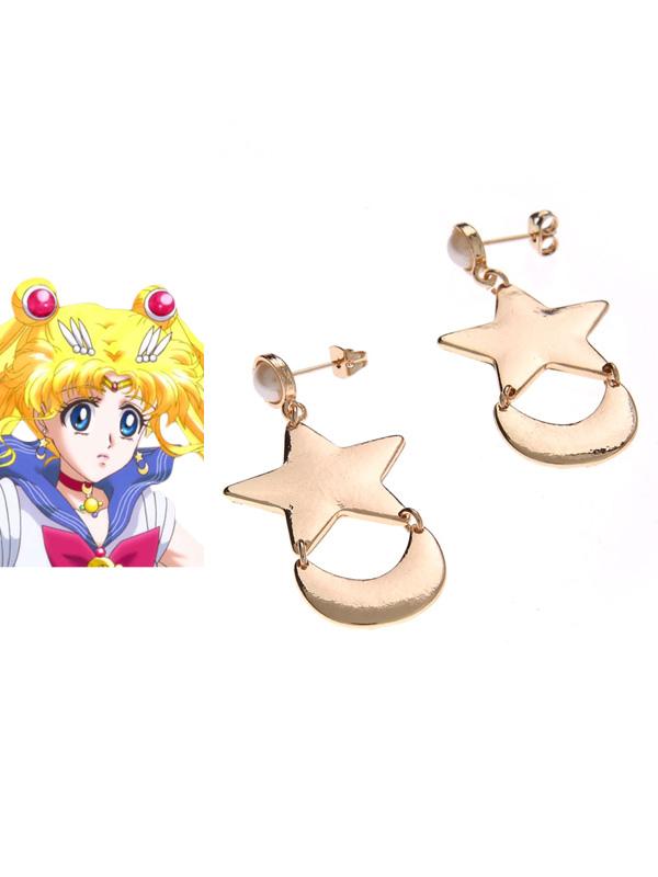 Sailor Moon Tsukino Usagi Cosplay Earrings Halloween