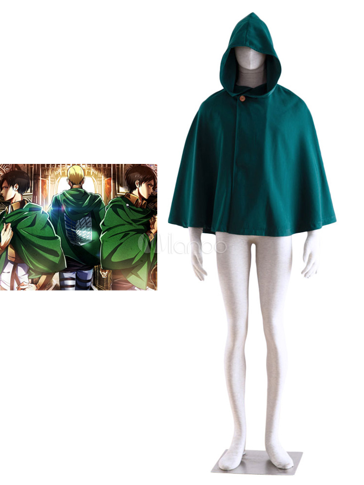 Buy Attack on Titan Shingeki no Kyojin Cloak Cosplay Costume Survey Corps Scout Regiment Cloak Halloween for $27.99 in Milanoo store