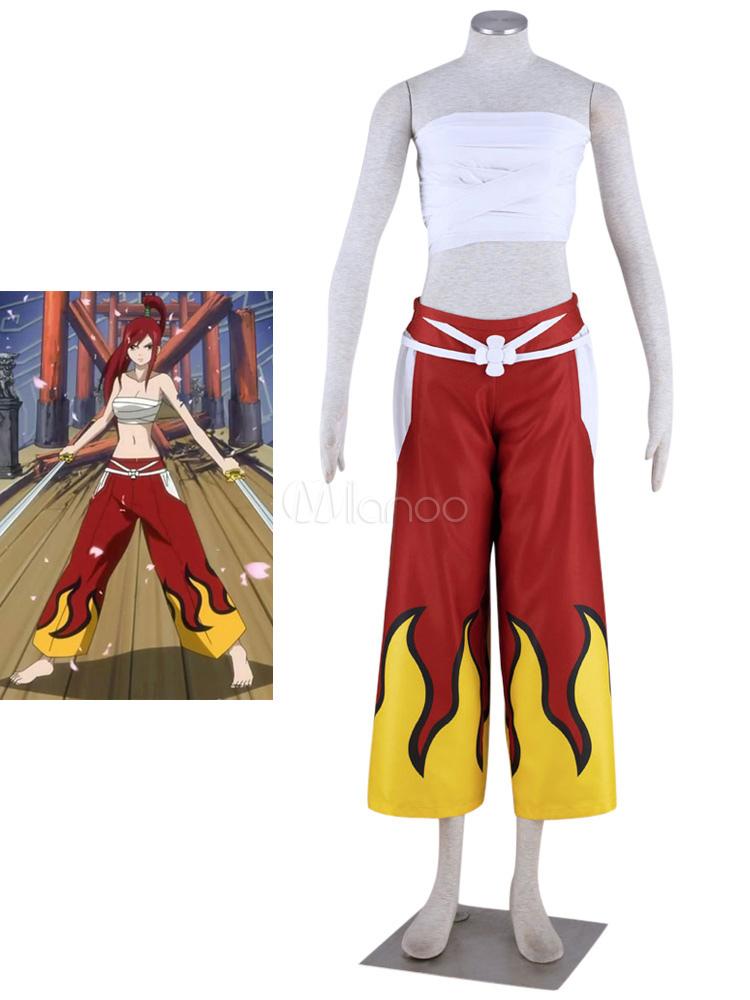 Fairy Tail Elza Scarlet Halloween Cosplay Costume Halloween