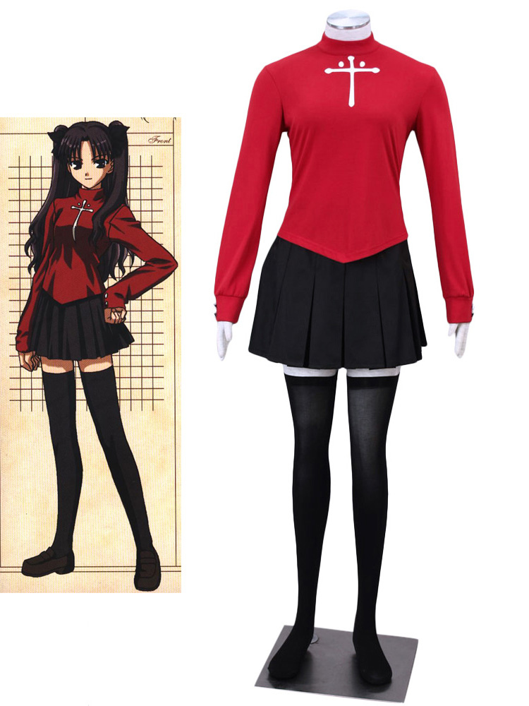 Fate Stay Night Tosaka Rin Cosplay Costume  Halloween