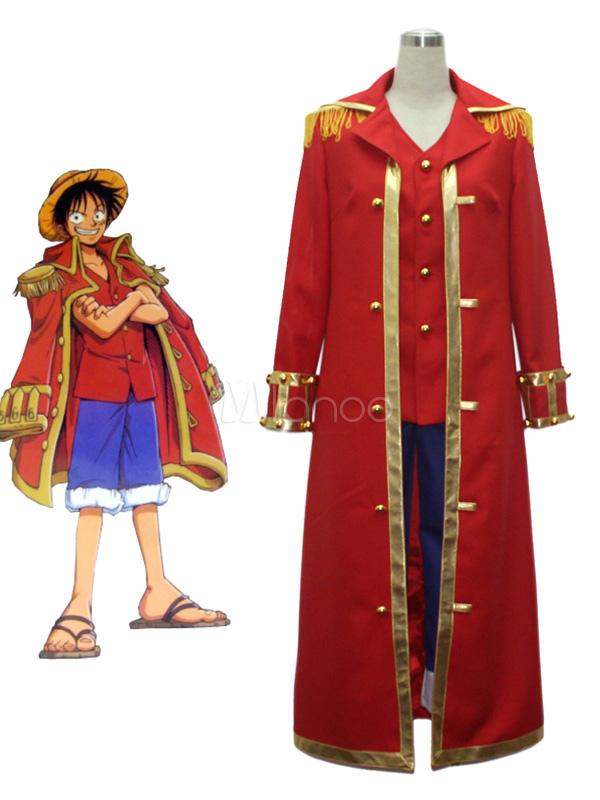 Buy One Piece Luffy Halloween Cosplay Monkey D Luffy Cosplay Costume Halloween for $78.29 in Milanoo store