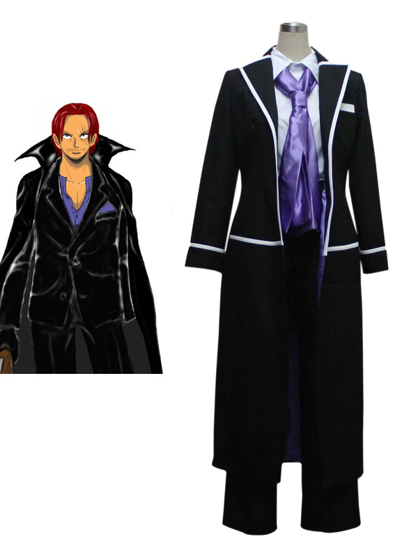 One Piece Shanks Cosplay Costume Red Hair Shanks Cosplay Halloween