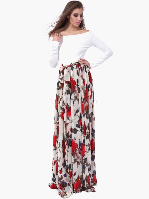 Longue robe fleurie