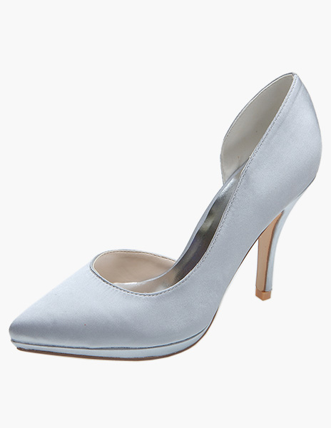 Buy Satin Pointed Toe Pumps For Bride for $53.09 in Milanoo store