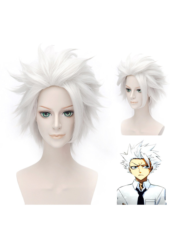 Straight Hitsugaya Toushirou Bleach Cosplay Wig  Halloween