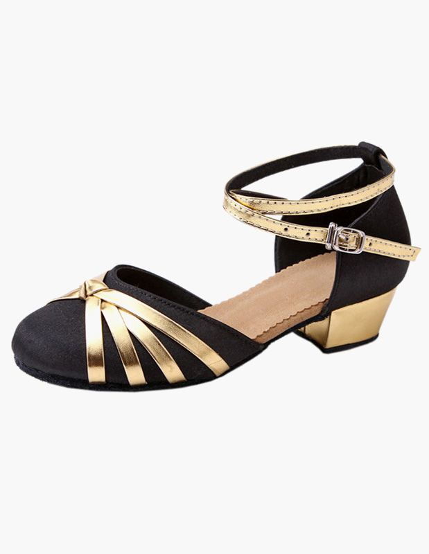 Ankle Strap Satin Latin Dance Shoes
