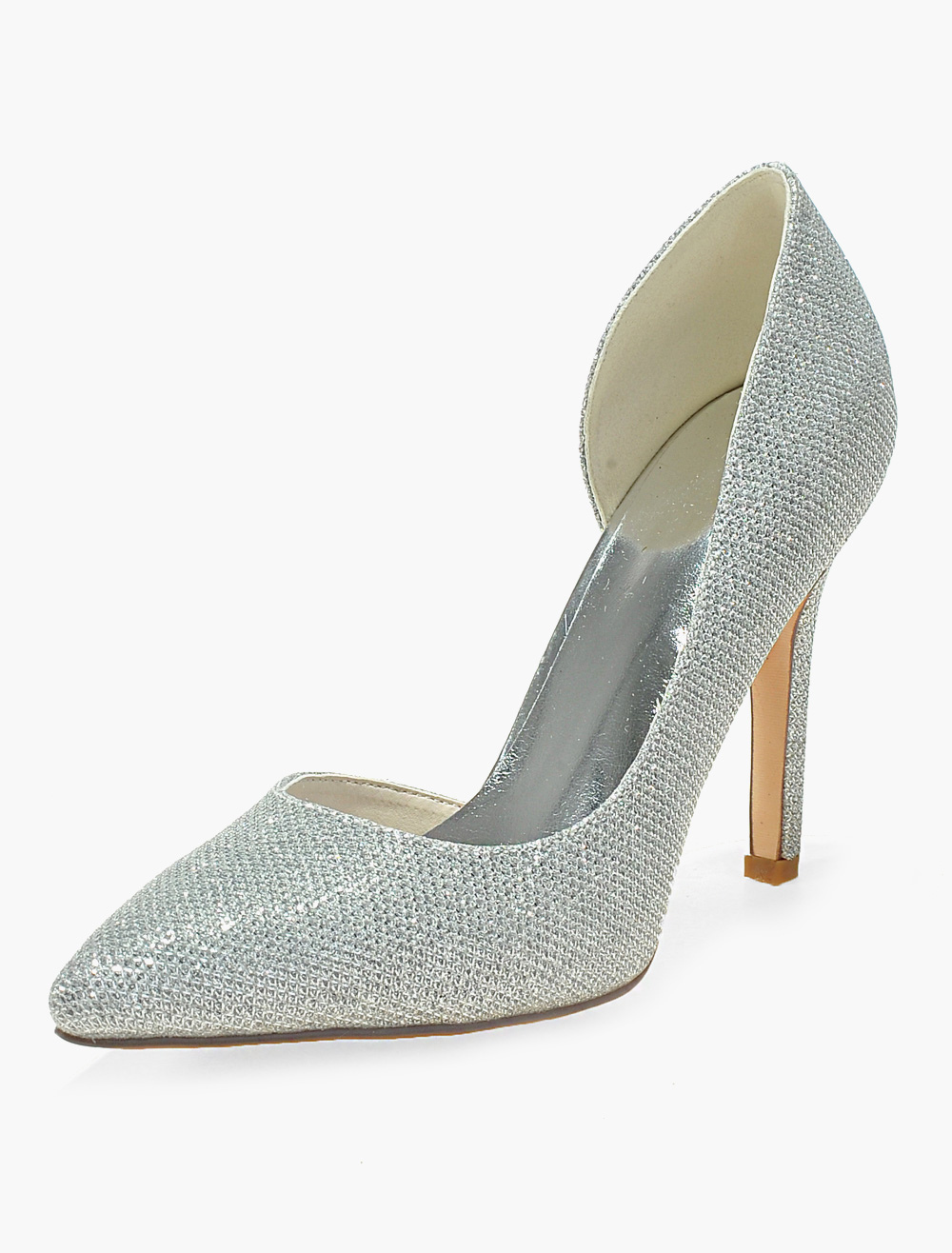 Buy Attractive Stiletto Heel Glitter Pointy Toe Shoes for $41.79 in Milanoo store