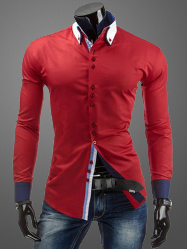 Cotton Shaping Long Sleeves Turndown Collar Casual Shirt For Man