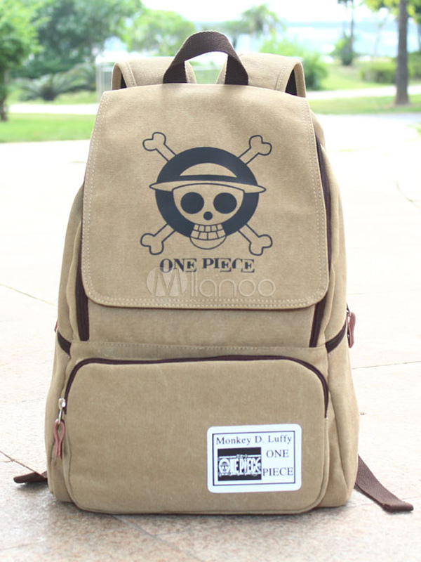 Buy One Piece Anime Backpack Straw Hat Pirates Logo Backpack Halloween for $24.29 in Milanoo store