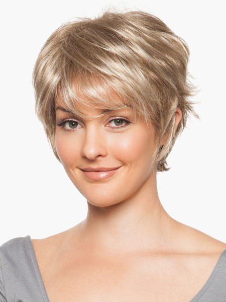 Urban Light Gold 8 inches Pixies and Boycuts Human Hair Wigs